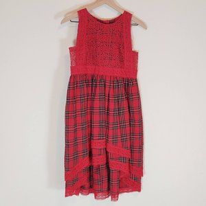 Trish Scully 12 Dress Red Tartan Delphine Holiday